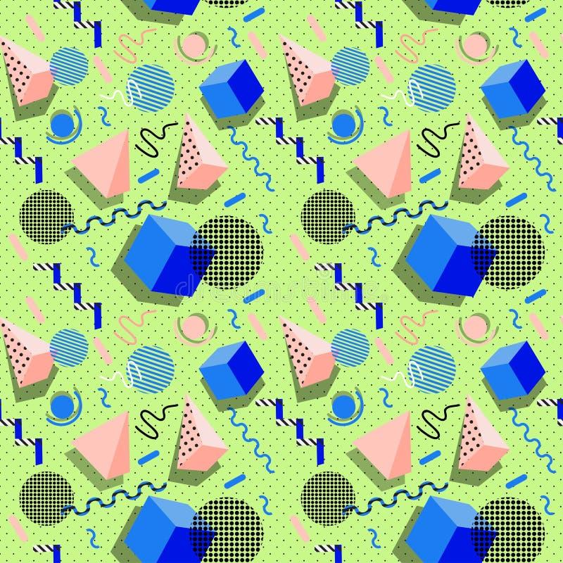 Σχέδιο της Μέμφιδας των γεωμετρικών μορφών για τον ιστό και τις κάρτες απεικόνιση αποθεμάτων