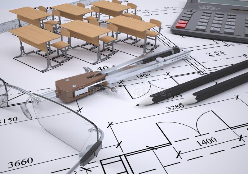 Σχέδιο της ρύθμισης των επίπλων απεικόνιση αποθεμάτων