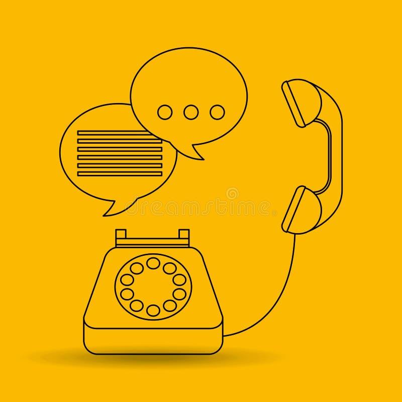 Σχέδιο τηλεφωνικών κέντρων ελεύθερη απεικόνιση δικαιώματος