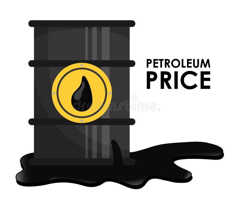 Σχέδιο τιμών πετρελαίου και του πετρελαίου διανυσματική απεικόνιση