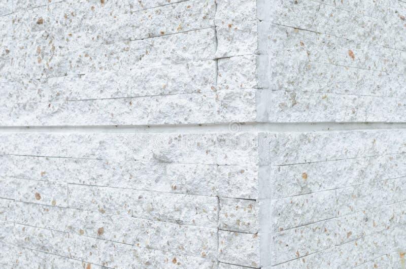 Σχέδιο του άσπρου σύγχρονου τουβλότοιχος πετρών που εμφανίζεται στοκ εικόνες