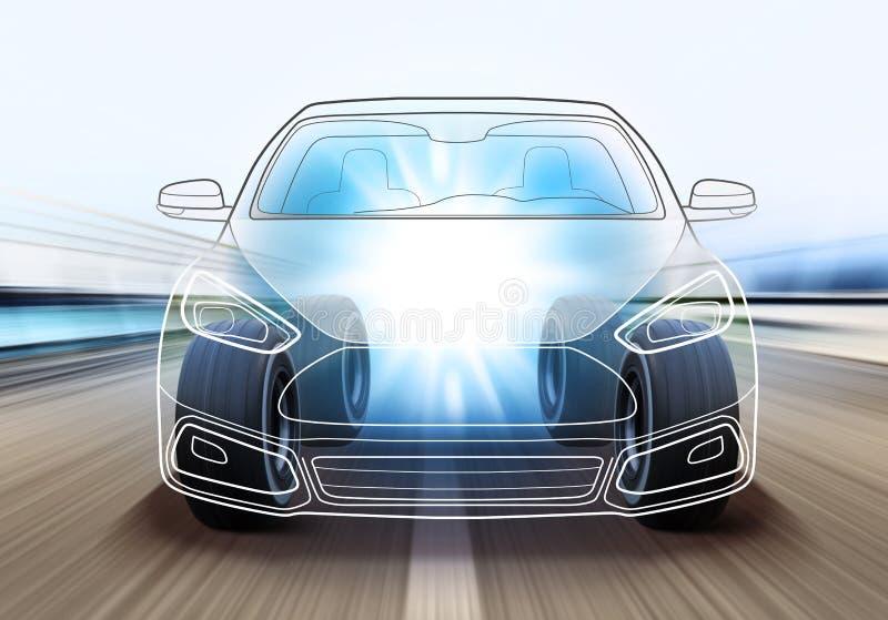 Σχέδιο του αυτοκινήτου ελεύθερη απεικόνιση δικαιώματος