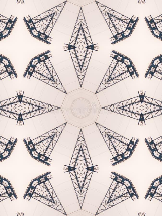 Σχέδιο του αφηρημένου γκρίζου σχεδίου καλειδοσκόπιων στοκ φωτογραφίες