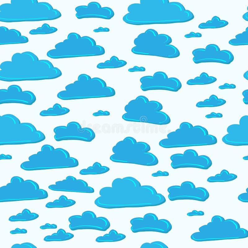 Σχέδιο του μπλε ουρανού με τα σύννεφα απεικόνιση αποθεμάτων