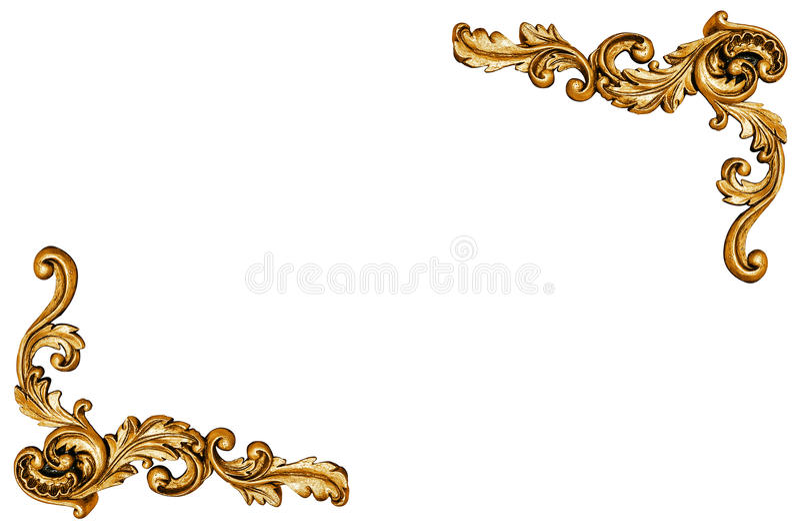 Σχέδιο του χρυσού πλαισίου μετάλλων ελεύθερη απεικόνιση δικαιώματος