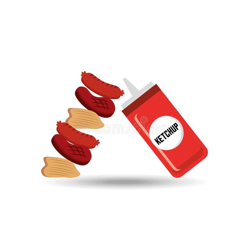 σχέδιο τροφίμων σχαρών ελεύθερη απεικόνιση δικαιώματος
