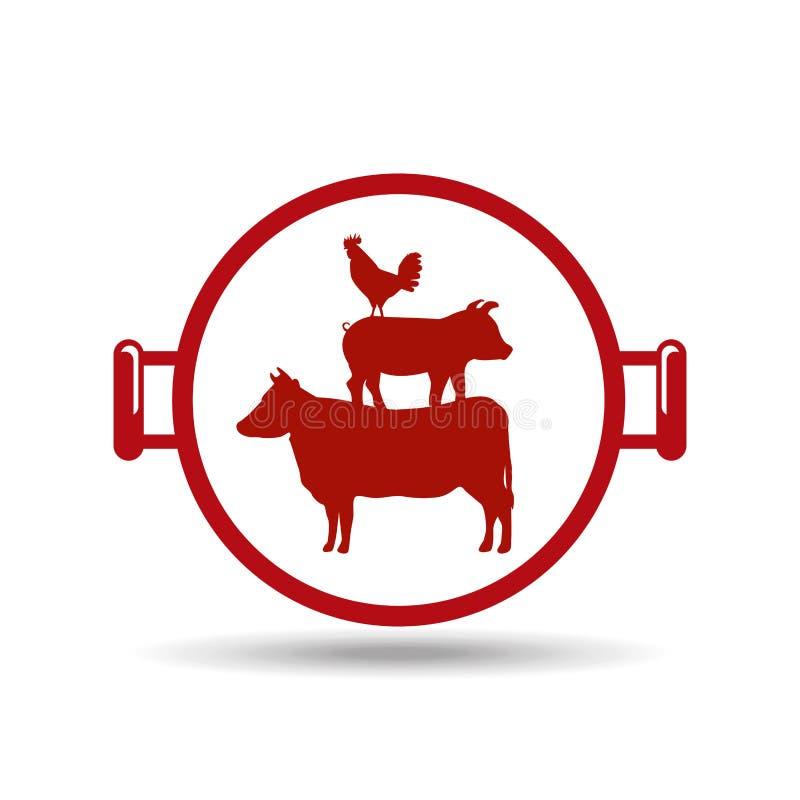 σχέδιο τροφίμων σχαρών απεικόνιση αποθεμάτων