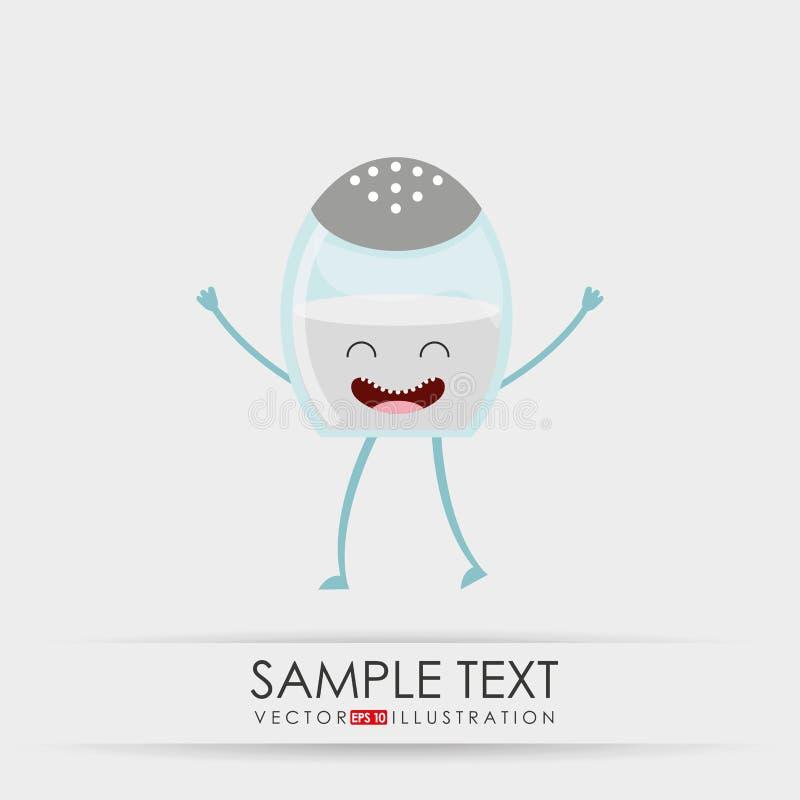 σχέδιο τροφίμων χαρακτήρα απεικόνιση αποθεμάτων