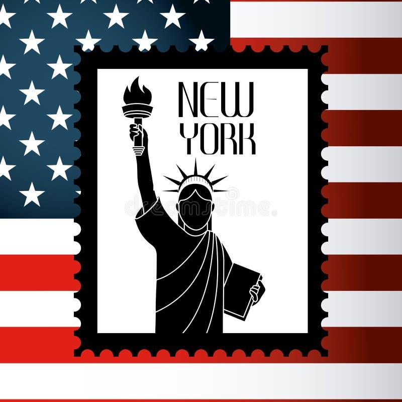 Download Σχέδιο των Ηνωμένων Πολιτειών και της Νέας Υόρκης Διανυσματική απεικόνιση - εικονογραφία από πατριωτικός, σύμβολο: 62704150