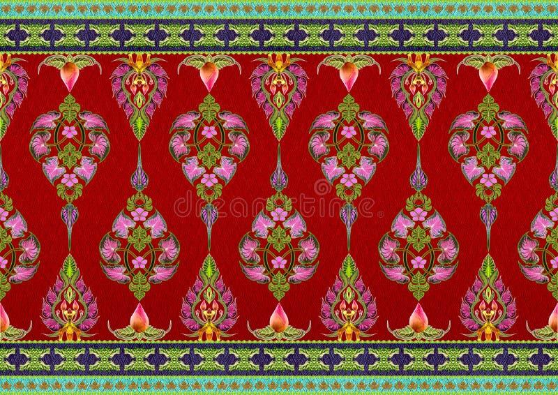 Σχέδιο των λουλουδιών και των φύλλων στοκ εικόνα με δικαίωμα ελεύθερης χρήσης