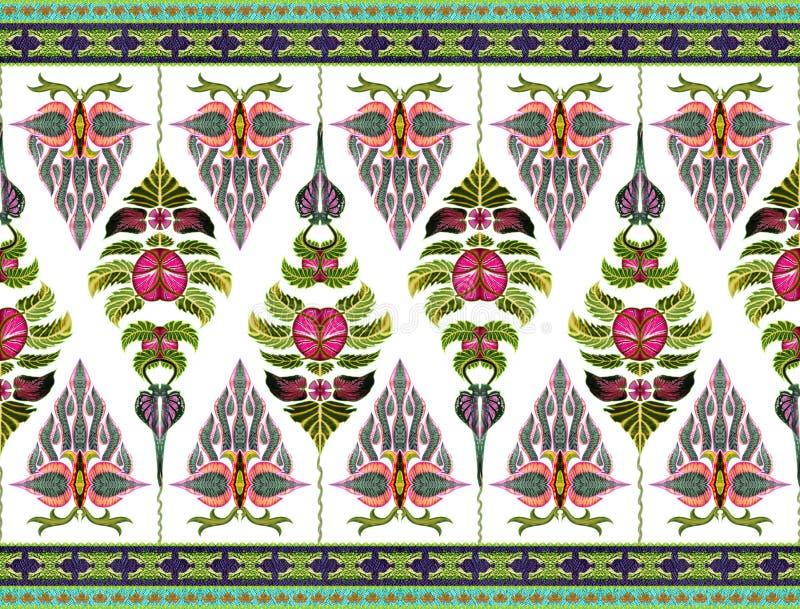 Σχέδιο των λουλουδιών και των φύλλων στοκ φωτογραφία
