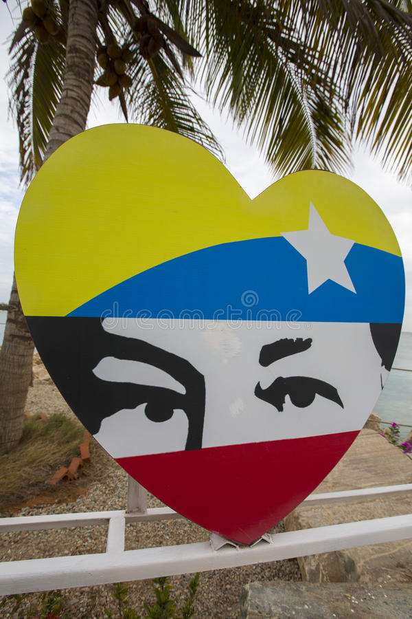 Σχέδιο των τυποποιημένων ματιών του Hugo Chavez στοκ φωτογραφία με δικαίωμα ελεύθερης χρήσης