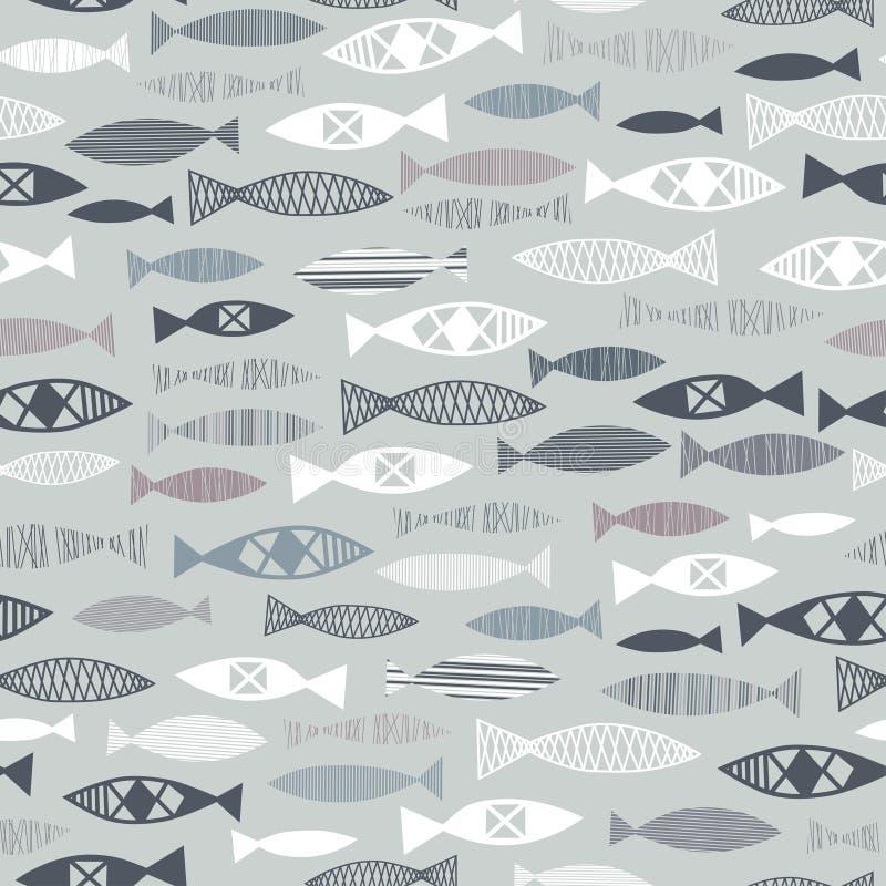 σχέδιο των ψαριών ελεύθερη απεικόνιση δικαιώματος