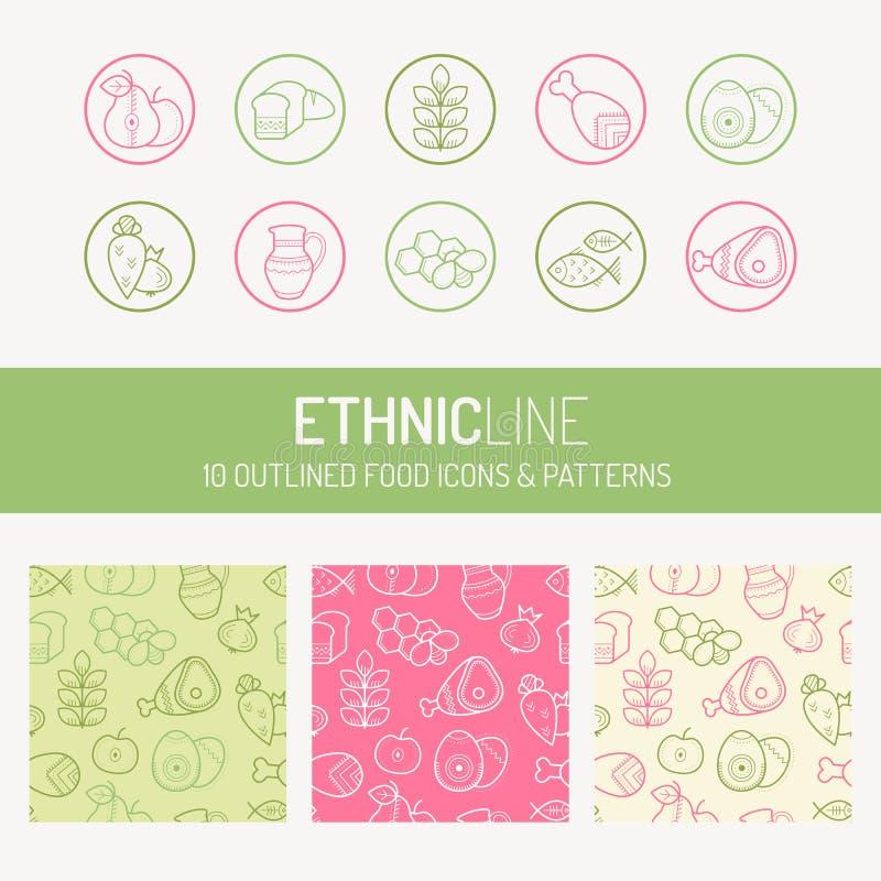 Σχέδιο υγιών και φυσικών προϊόντων διανυσματική απεικόνιση