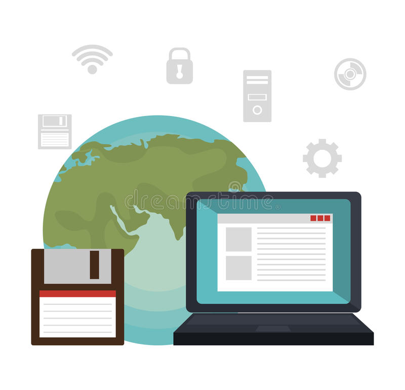 Σχέδιο υπηρεσιών τεχνολογίας ελεύθερη απεικόνιση δικαιώματος