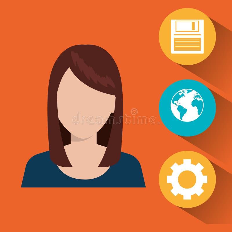 Σχέδιο υπηρεσιών τεχνολογίας απεικόνιση αποθεμάτων
