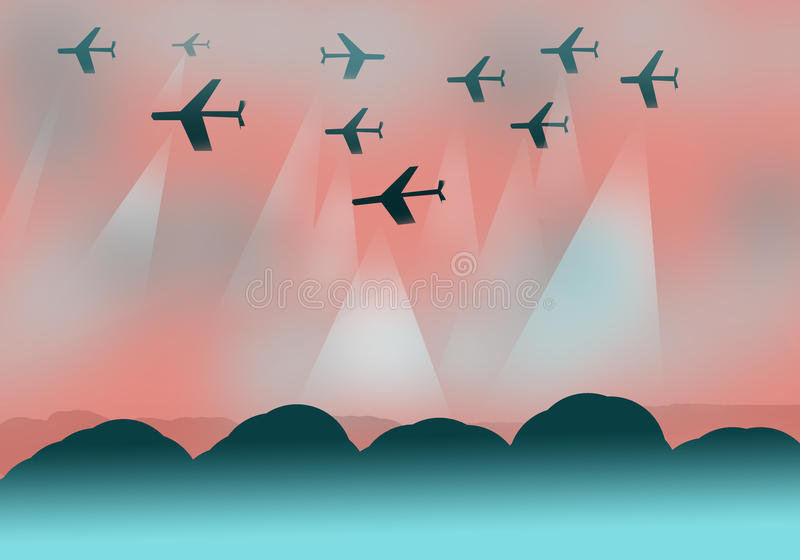 Σχέδιο υποβάθρου με τα αεροπλάνα στοκ φωτογραφίες με δικαίωμα ελεύθερης χρήσης