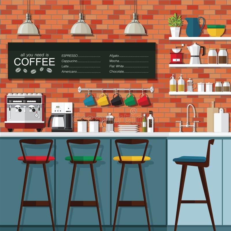 Σχέδιο φραγμών καφέ ελεύθερη απεικόνιση δικαιώματος