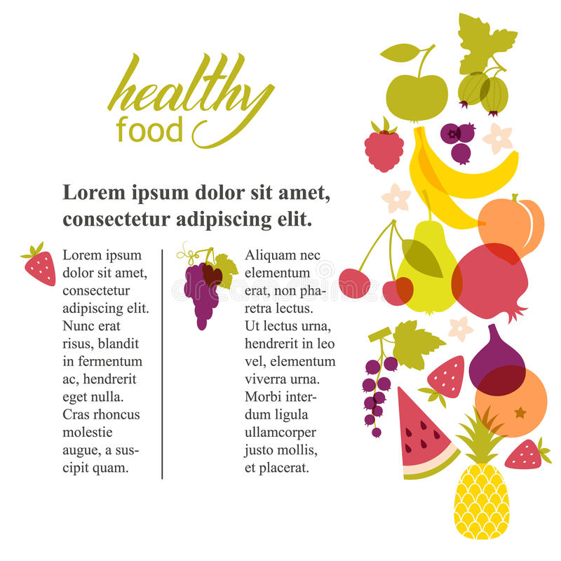 Σχέδιο φρούτων απεικόνιση αποθεμάτων