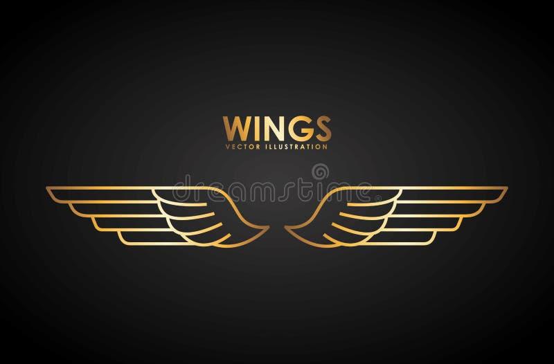 Σχέδιο φτερών διανυσματική απεικόνιση