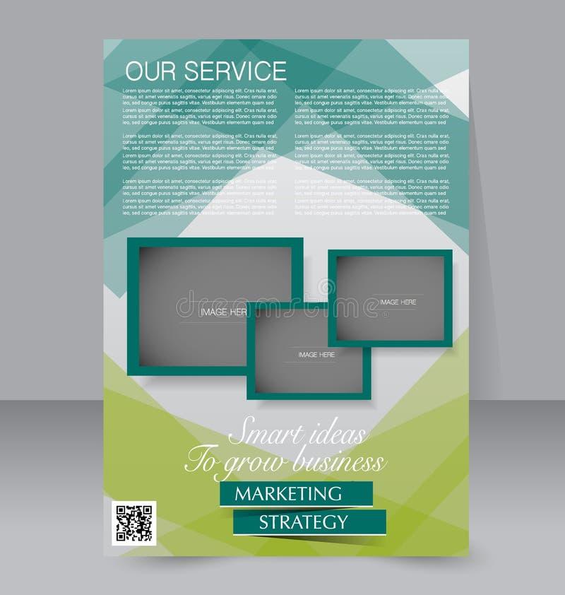 Σχέδιο φυλλάδιων Πρότυπο ιπτάμενων Αφίσα Editable A4 για την επιχείρηση διανυσματική απεικόνιση