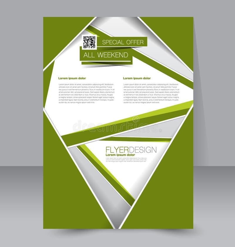 Σχέδιο φυλλάδιων Πρότυπο ιπτάμενων Αφίσα Editable A4 διανυσματική απεικόνιση