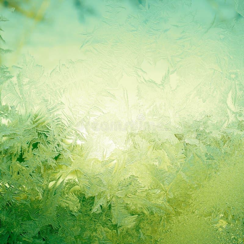 Σχέδιο χιονιού στο παράθυρο στοκ εικόνες με δικαίωμα ελεύθερης χρήσης