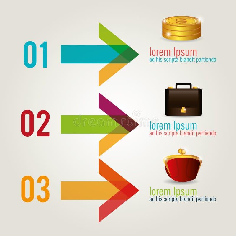 Σχέδιο χρημάτων και επιχειρήσεων διανυσματική απεικόνιση