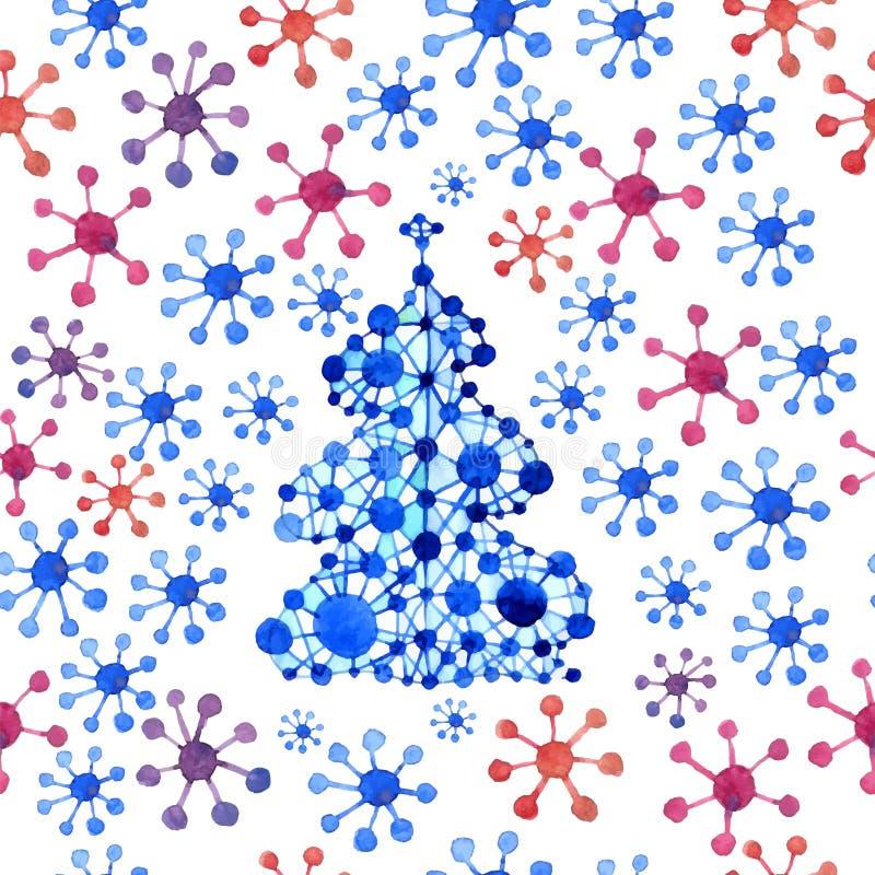 Σχέδιο χριστουγεννιάτικων δέντρων διανυσματική απεικόνιση