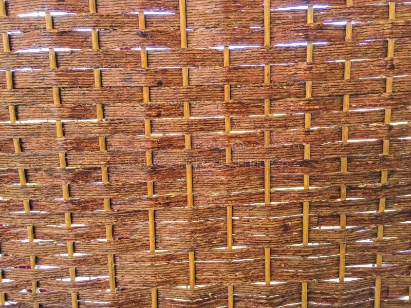 Σχέδιο ύφανσης της χρήσης μπαμπού για το υπόβαθρο στοκ φωτογραφίες