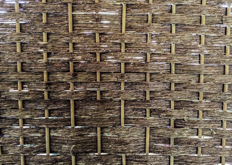 Σχέδιο ύφανσης της χρήσης μπαμπού για το υπόβαθρο στοκ εικόνες με δικαίωμα ελεύθερης χρήσης