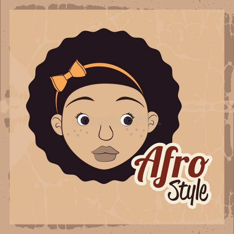 Σχέδιο ύφους Afro ελεύθερη απεικόνιση δικαιώματος