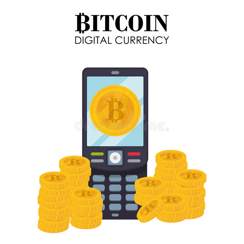 Σχέδιο Bitcoin διανυσματική απεικόνιση