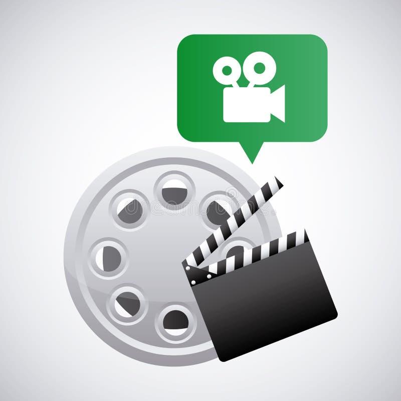 Download Σχέδιο Filmstrip και Clapboard Διανυσματική απεικόνιση - εικονογραφία από σύμβολο, γεγονός: 62704962