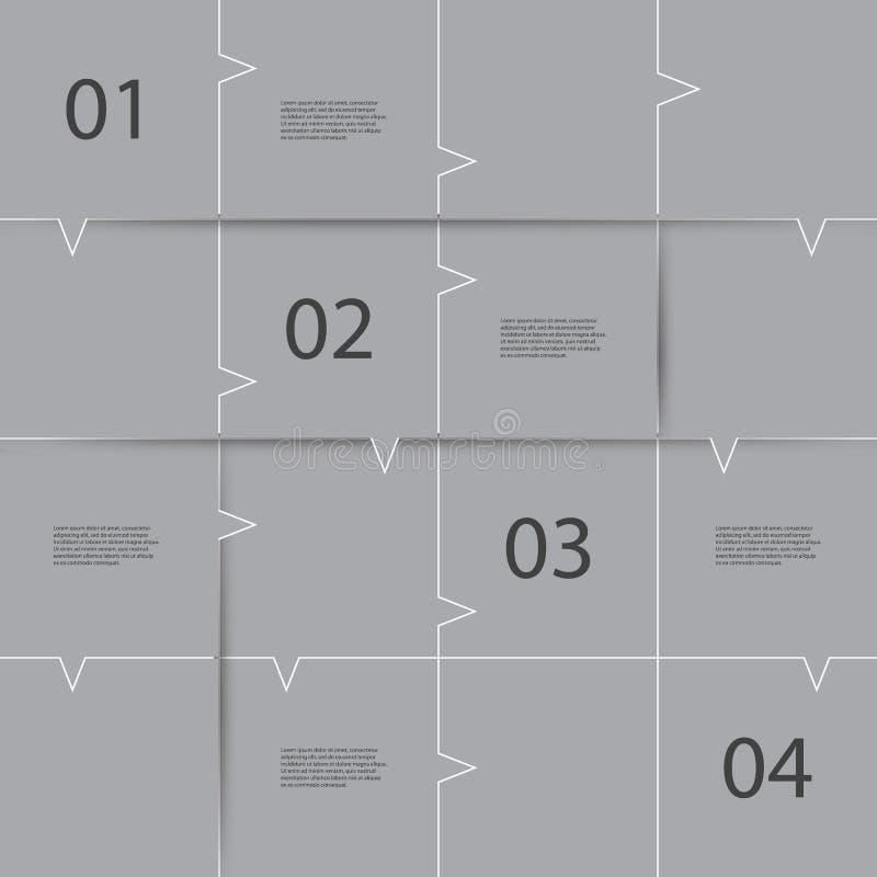 Σχέδιο Infographic - κεραμωμένες λεκτικές φυσαλίδες διανυσματική απεικόνιση