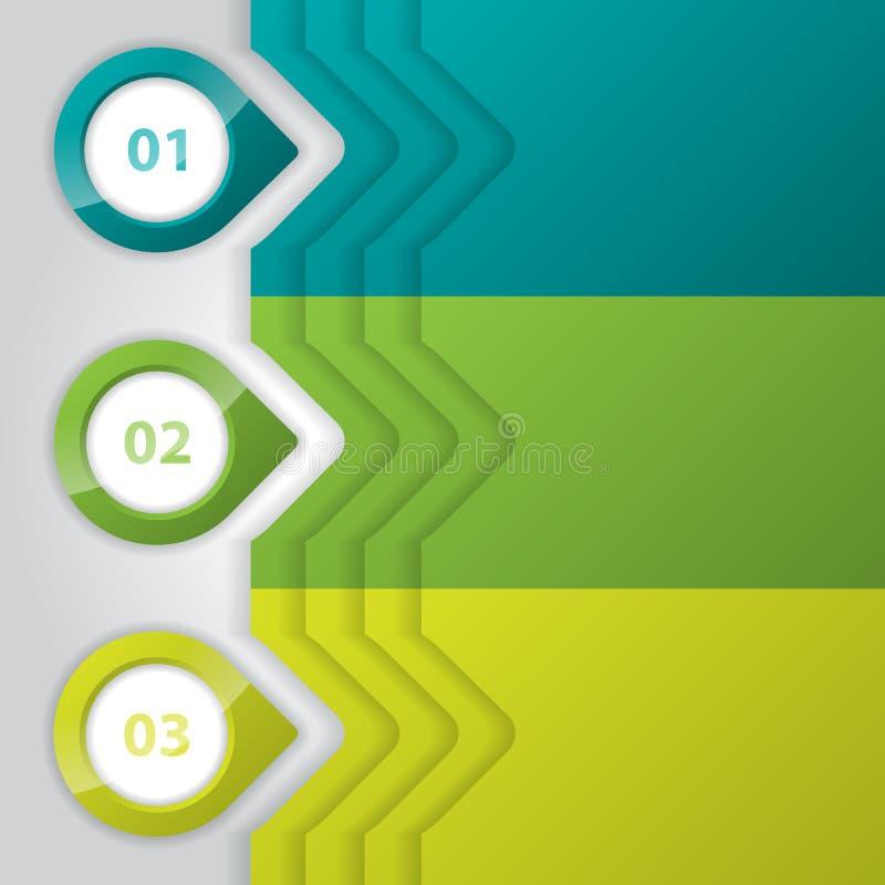 Σχέδιο Infographic με τους στιλπνούς δείκτες ελεύθερη απεικόνιση δικαιώματος