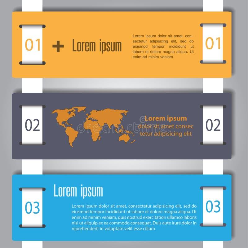 Σχέδιο Infographic στο γκρίζο υπόβαθρο EPS 10 διανυσματικό αρχείο απεικόνιση αποθεμάτων