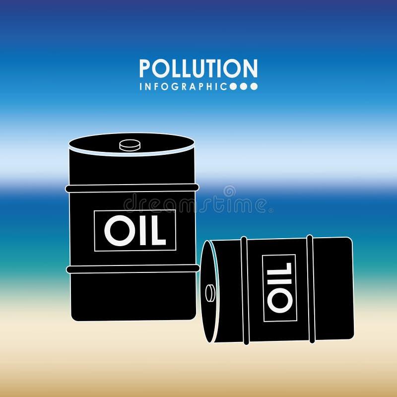 Σχέδιο infographics ρύπανσης απεικόνιση αποθεμάτων