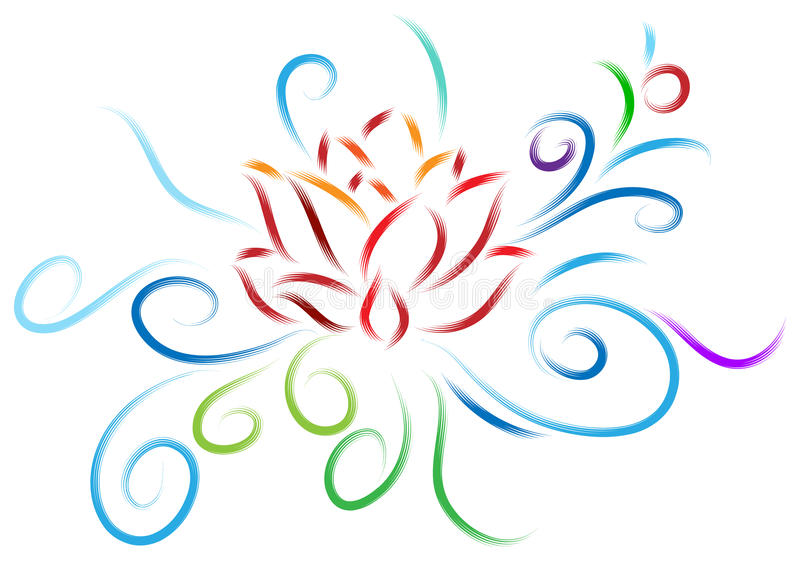 Σχέδιο Lotus ελεύθερη απεικόνιση δικαιώματος
