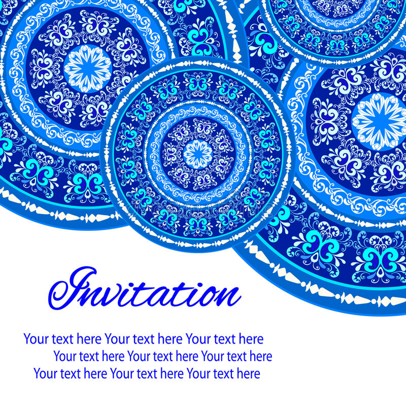 Σχέδιο Mandala στοκ εικόνα