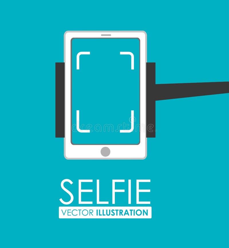Σχέδιο Selfie, διανυσματική απεικόνιση απεικόνιση αποθεμάτων