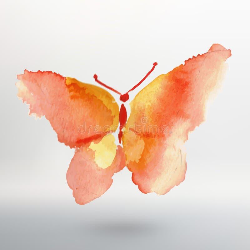 Σχέδιο watercolor πεταλούδων ελαφρύς διανυσματικός κόσμος τέχνης ελεύθερη απεικόνιση δικαιώματος