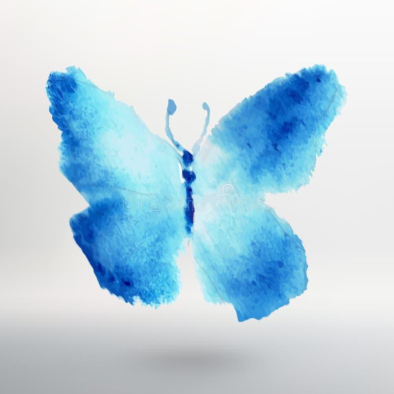 Σχέδιο watercolor πεταλούδων ελαφρύς διανυσματικός κόσμος τέχνης απεικόνιση αποθεμάτων