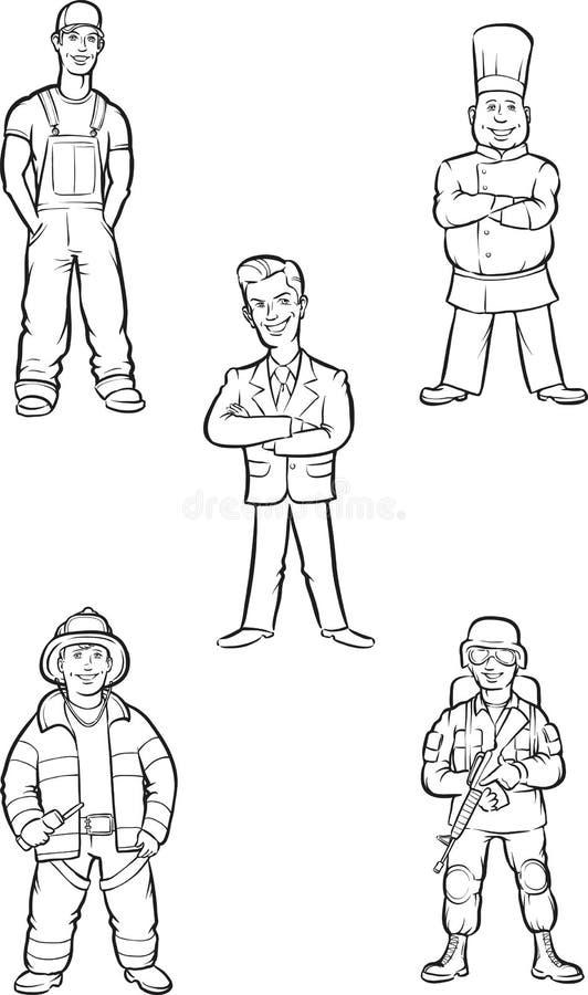 Σχέδιο Whiteboard - μόνιμοι επαγγελματίες ελεύθερη απεικόνιση δικαιώματος