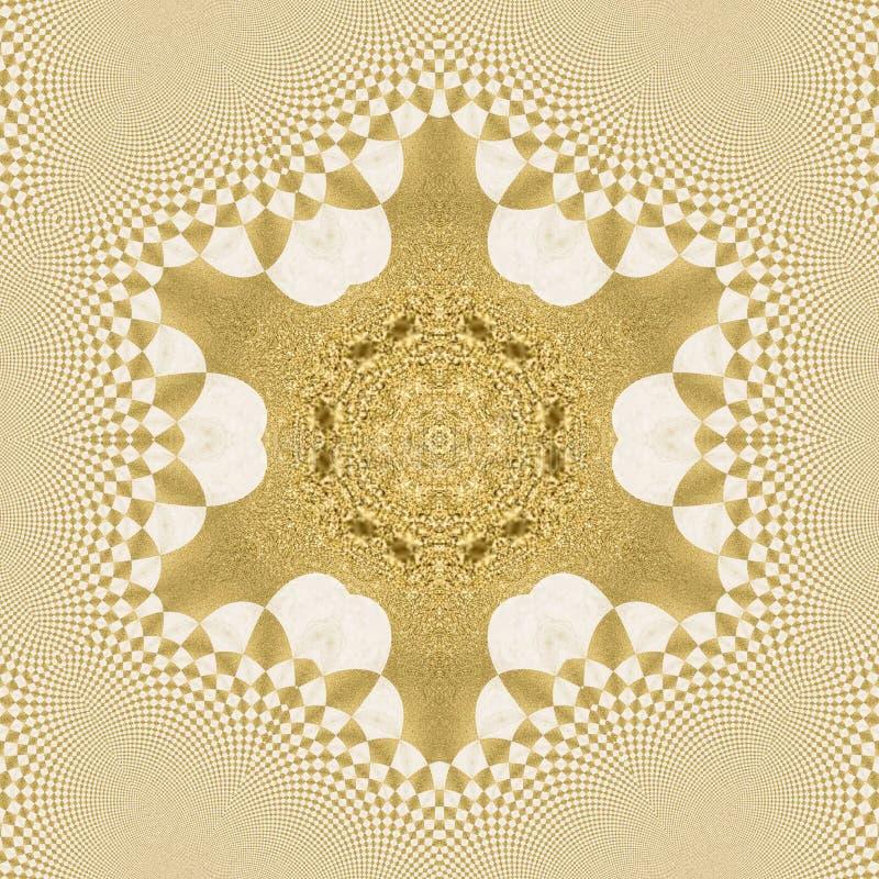 Σχήματα αφηρημένης σχεδίασης από υλικό χρυσής σκόνης στοκ φωτογραφίες
