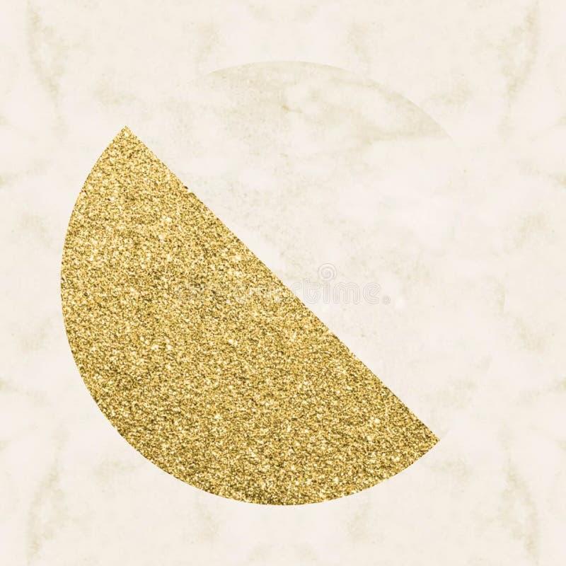 Σχήματα αφηρημένης σχεδίασης από υλικό χρυσής σκόνης στοκ εικόνες
