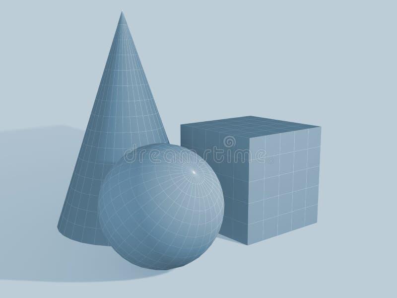 σχήματα γεωμετρικά τρία διανυσματική απεικόνιση