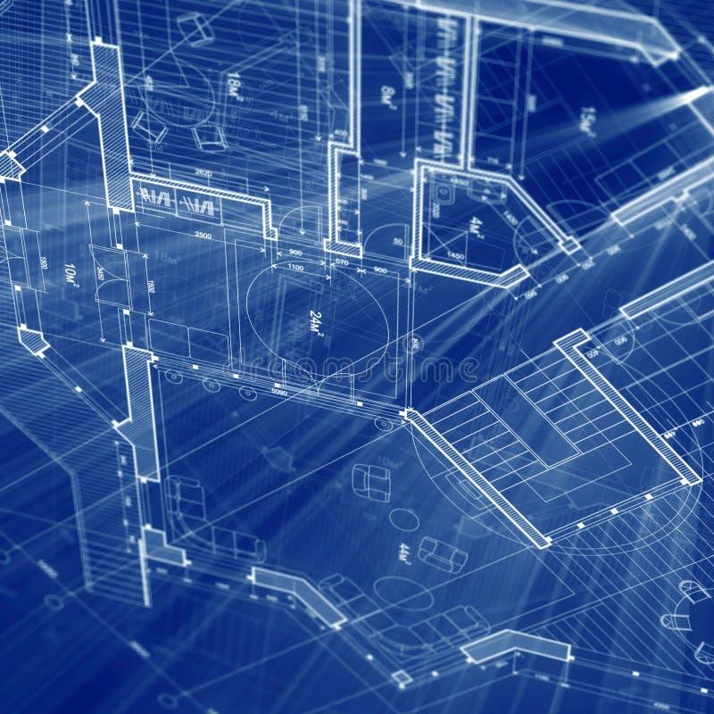 σχεδιάγραμμα αρχιτεκτο&n διανυσματική απεικόνιση