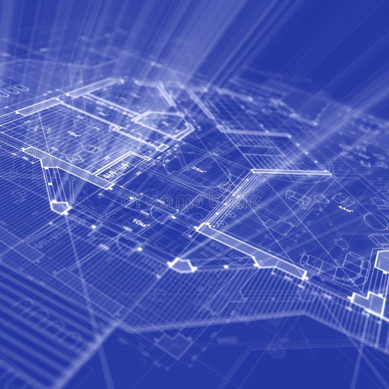 σχεδιάγραμμα αρχιτεκτο&n απεικόνιση αποθεμάτων