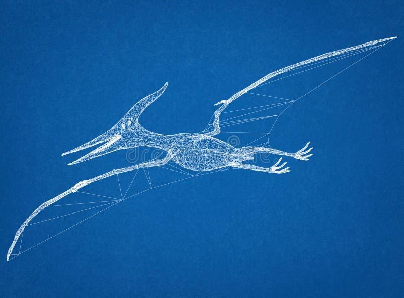 Σχεδιάγραμμα αρχιτεκτόνων δεινοσαύρων στοκ φωτογραφία με δικαίωμα ελεύθερης χρήσης